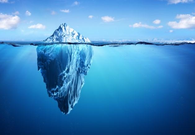 De verhouding tussen het bewuste en onbewuste wordt goed weergeven door de ijsberg. Er ligt veel onbewust materiaal onder de zeespiegel.